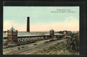 AK Willimantic, CT, American Thread Co., Mill No. 4
