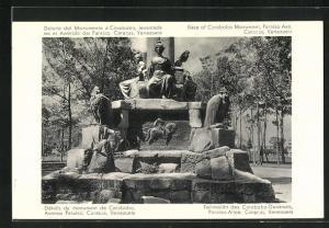 AK Caracas, Teilansicht des Carabobo-Denkmals, Paraiso-Allee