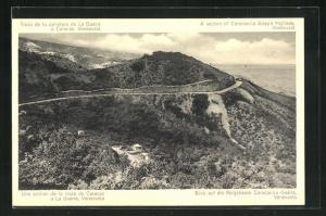 AK Caracas, Blick auf die Bergstrasse