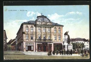 AK Ljubljana / Laibach, Marijin trg, Gebäudeansicht