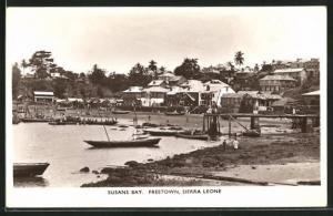 AK Freetown, Susans bay, Strandpartie mit Booten