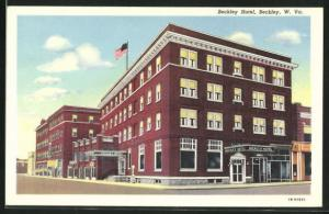 Künstler-AK Beckley, WV, Blick auf das Beckley Hotel