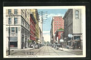 AK Louisville, KY, Walnut Street east from 5th, Tramway