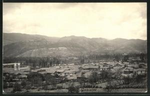 AK Gualaceo, Panoramablick vom Berg