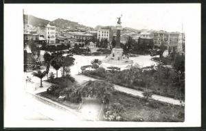 AK Guayaquil, Teilansicht mit Denkmal