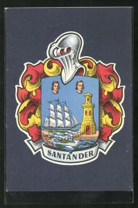AK Santander, Ansicht des Wappens