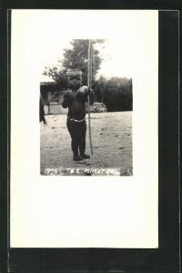 AK Mbabane, The Minstrel, Afrikanischer Knirps mit Bogen