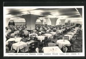 AK London, Maison Lyons Corner House, View inside Dinning Room