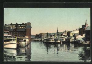 AK Providence, RI, The Steamboat Wharves