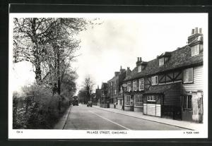 AK Chigwell, Houses and Bus in a Village Street