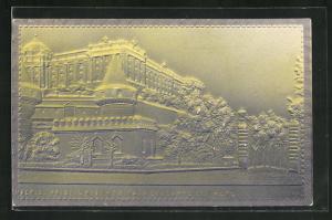 Relief-AK Madrid, Palacio real y entrada delcampo del moro