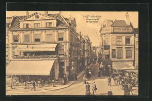 AK `s-Gravenhage, Groenmarkt, Hoogstraat