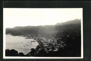 AK St. Vincent, Panoramablick mit Gebirge