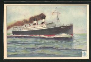 Künstler-AK Vapor Givlio Cesare, Passagierschiff auf hoher See