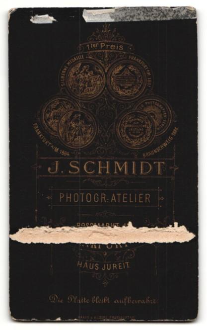 Fotografie J. Schmidt, Frankfurt a/M., Junge im Jacket mit Seitenscheitel 1