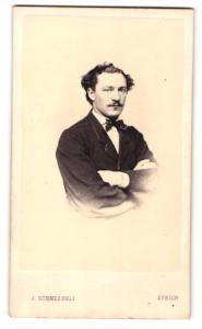 Fotografie J. Schneebeli, Zürich, Portrait Kaufmann Heinrich Mayer aus München