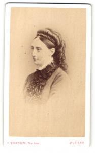 Fotografie Portrait Königin Olga von Württemberg