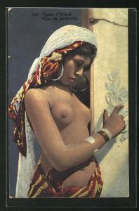 AK Types d`Orient, Tipo de jovencita, Arabische nackte Frau