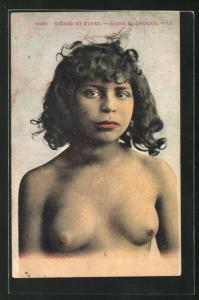 AK arabische nackte Frau, Jeune Mauresque, Frau mit nacktem Oberkörper