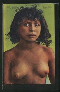 AK arabische nackte Frau, Joven Mora, junge Frau mit nackter Brust