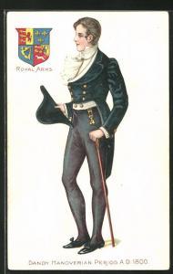 AK Junger Mann im eleganten Kleider der Hannoveraner Periode um 1800
