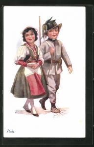 Künstler-AK Joyce Averill: Italy, kleiner Soldat und Maid