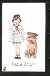 AK He`s a Soldier, Hund mit Soldatenmütze