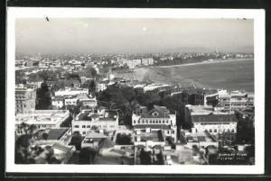 AK Bombay, View from Malabar Hill, Ortsansicht über Häuser mit Blick auf Strand und Meer