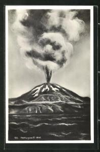 AK Island, Ausbruch des Vulkans Heklugosid 1845