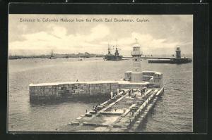 AK Colombo, Leuchttürme am Hafeneingang