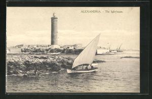 AK Alexandria, The light-house, Blick zum Leuchtturm