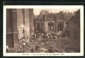 AK Borculo, Na de cycloon op 10 Augustus 1925, Unwetterschäden