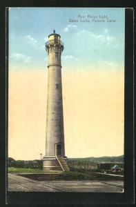 AK Panama, Rear Range Light, Gatun Locks, Leuchtturm an den Gatun-Schleusen
