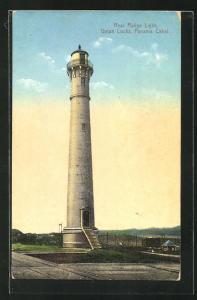 AK Panama, Rear Range Light, Gatun Locks, Leuchtturm an den Gatunschleusen