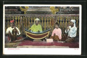 AK Burma, Burmese Band, Musiker mit Instrumenten