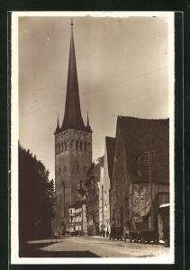 Foto-AK Tallinn, Oleviste kirk, Kirche