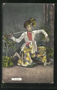 AK Po Sein, burmesischer Schauspieler und Tänzer