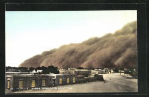AK Khartoum, Haboub, Sandstorm erreicht Häuser
