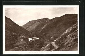 AK St. Helena, Gardens upper Jamestown, Blick auf Berge