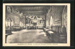 AK San Marino, La Sala del Consiglio Principe e Sovrano