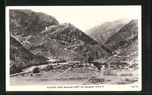 AK Khyber Pass, Showing Fort Ali-Musjid, N. W. F. P.