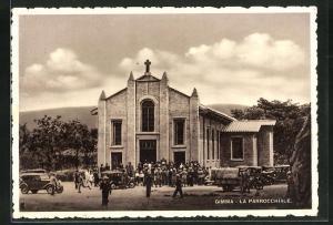 AK Gimma, La Parrocchiale, Ansicht der Kirche