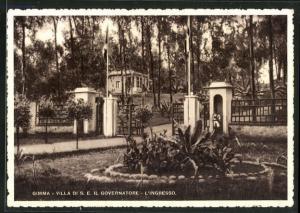 AK Gimma, Villa di S. E. il Governatore, L`Ingresso