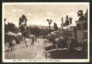 AK Addis Abeba, Il vecchio Ghebbi visto da Via Vittorio Bottego