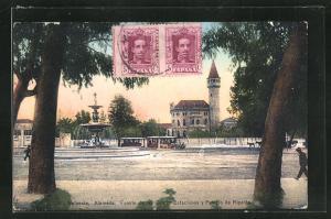 AK Alameda, Fuente de las Quatro Estaciones y Palacio de Ripalda