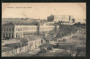 AK Madrid, Estacion del Norte, Bahnhof