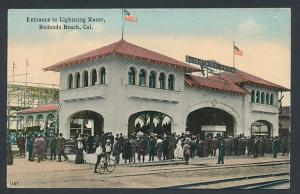 AK Redondo Beach, CA, Entrance to Lightning Racer, Achterbahn