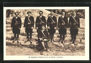 AK Andorra, Cos de Policia - La Police - Polizisten