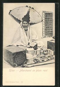 AK Sfax, Marchand en plein vent, arabischer Strassenhändler
