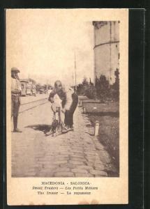 AK Salonica, Les Petits Metiers, Le repasseur, Strassenbauer